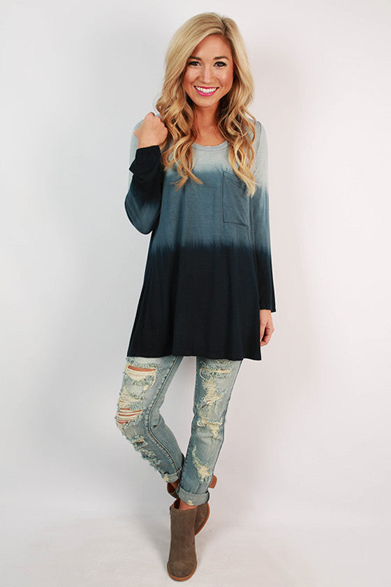 Boost Your Bliss Tunic in Navy