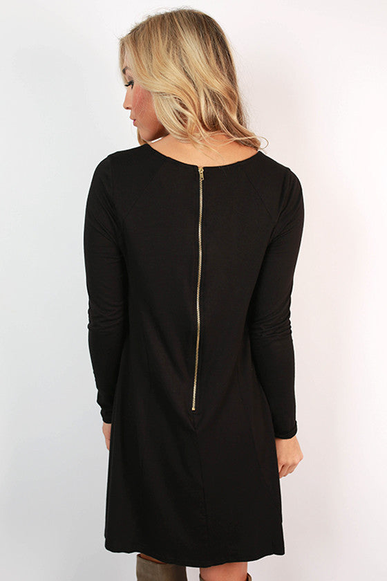 Chic To Meet You Shift Dress in Black