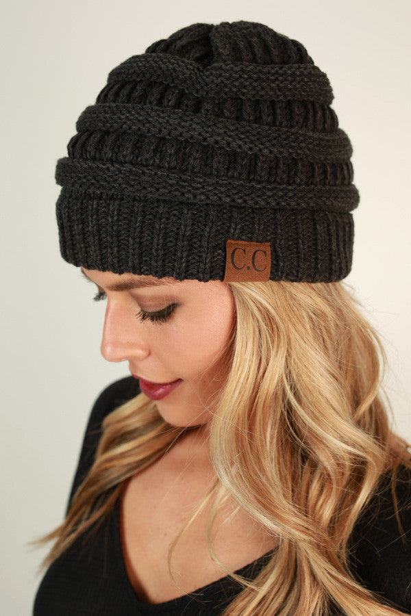 Beanie Beautiful in Charcoal Blend