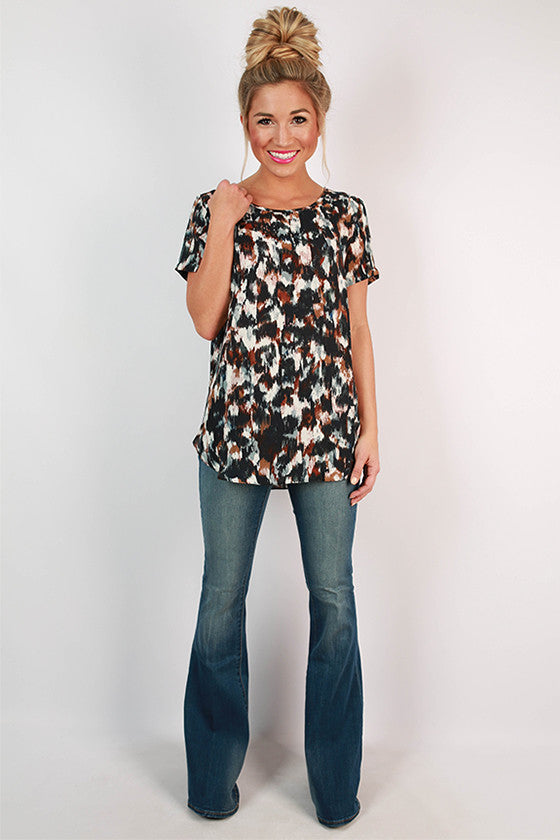 Graceful Prints Shift Top