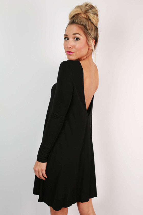 Constant Giggles Shift Dress in Black