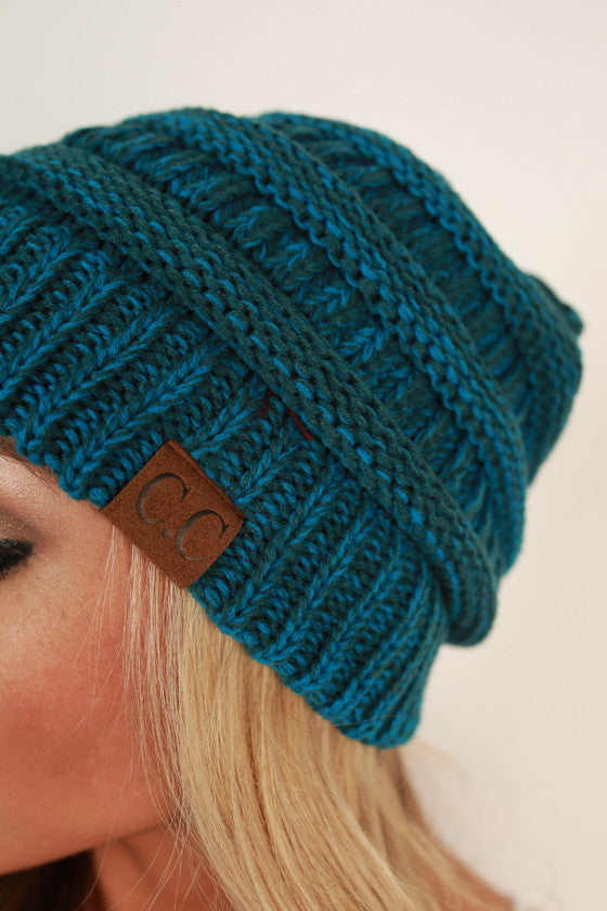 Beanie Beautiful in Ocean Blue Blend