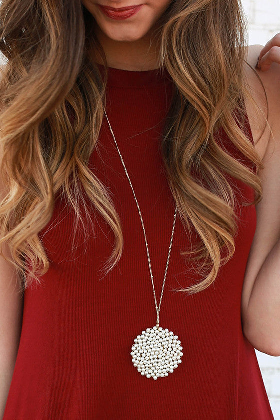 Sparkle for Days Necklace in Pearl