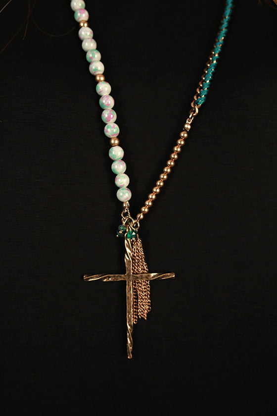 Blessings Cross Tassel Necklace