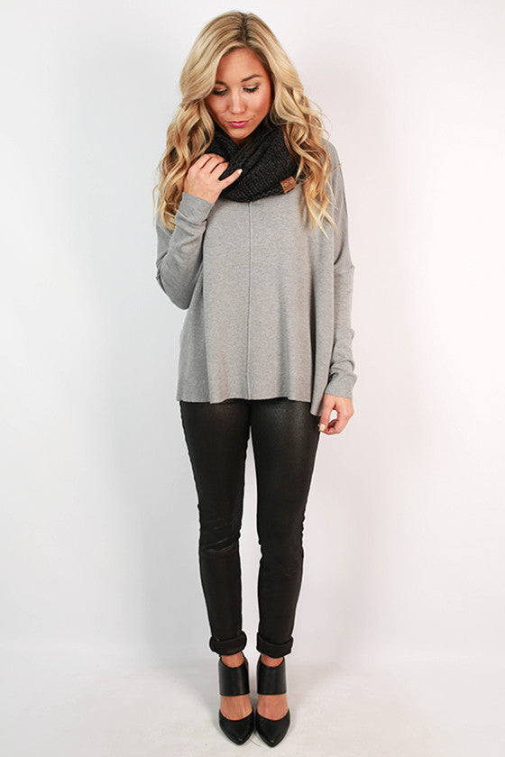 Coffee Bean Aroma Sweater in Grey