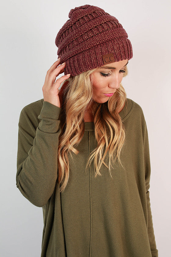 Beanie Beautiful in Dusty Purple Blend