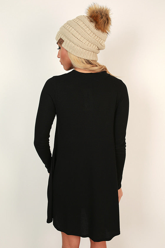 Colorado Cozy Thermal Tunic in Black