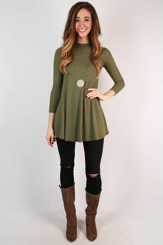 Colorado Cozy Thermal Tunic in Olive