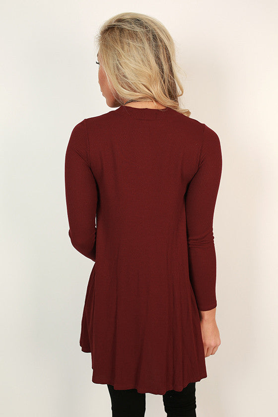 Colorado Cozy Thermal Tunic in Crimson