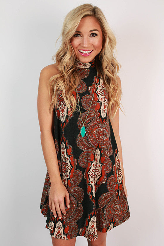 Fall Festival Swing Tank Dress