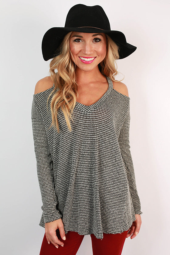 Claim To Fame Knit Top in White