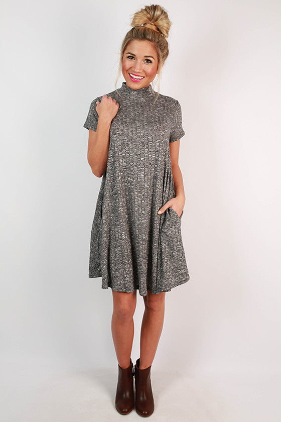 Haute For Fall Shift Dress in Black