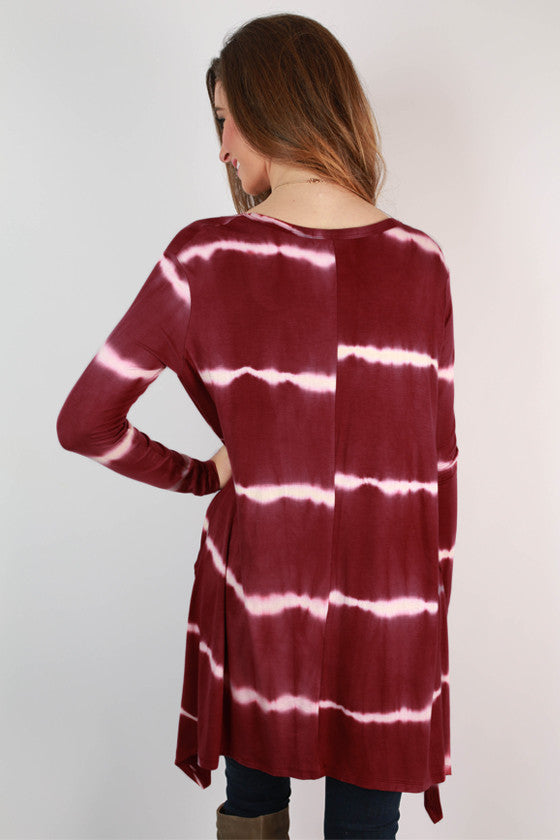 Steamboat Sunsets Tie Dye Tunic in Berry