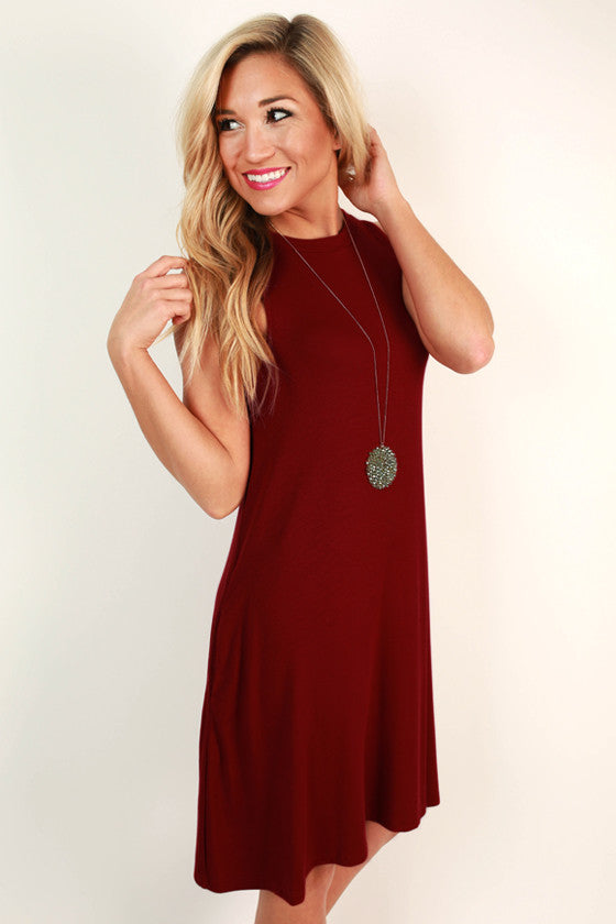 The Lola Tank Dress in Crimson