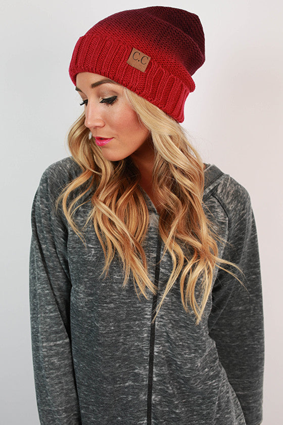 Beanie Beautiful Ombre in Sangria