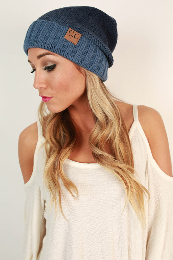 Beanie Beautiful Ombre in Cobalt Blue