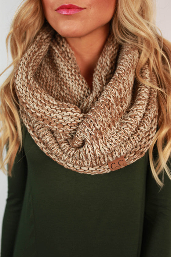 Infinity Beautiful Scarf in Taupe