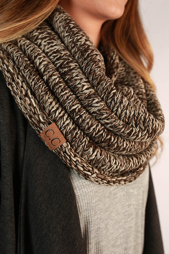 Infinity Beautiful Scarf in Chestnut