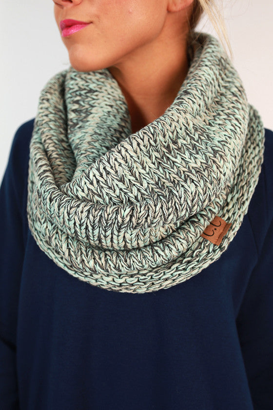 Infinity Beautiful Scarf in Aqua