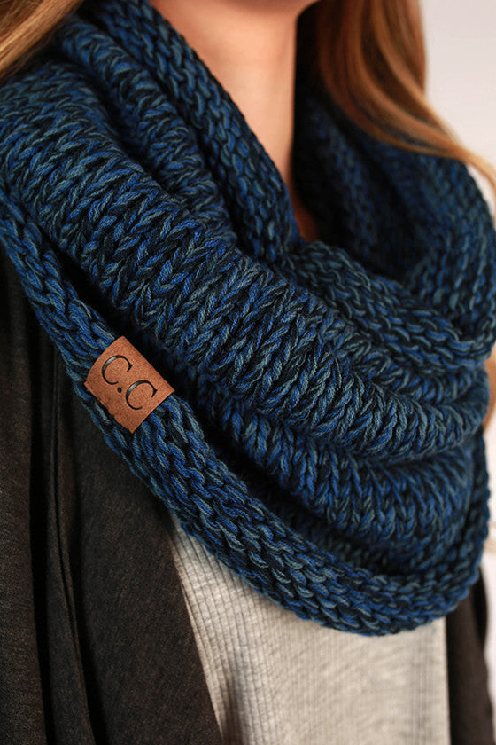 Infinity Beautiful Scarf in Cobalt Blue