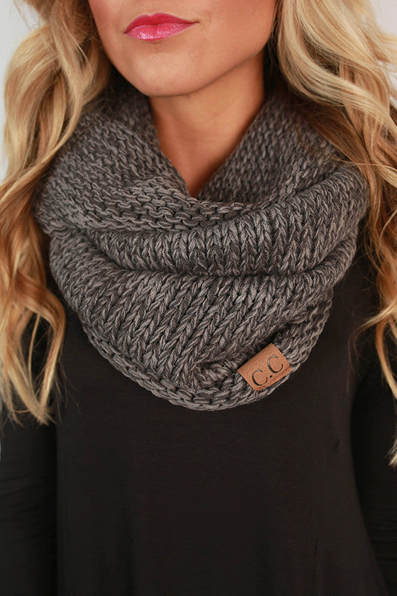 Infinity Beautiful Scarf in Dark Grey