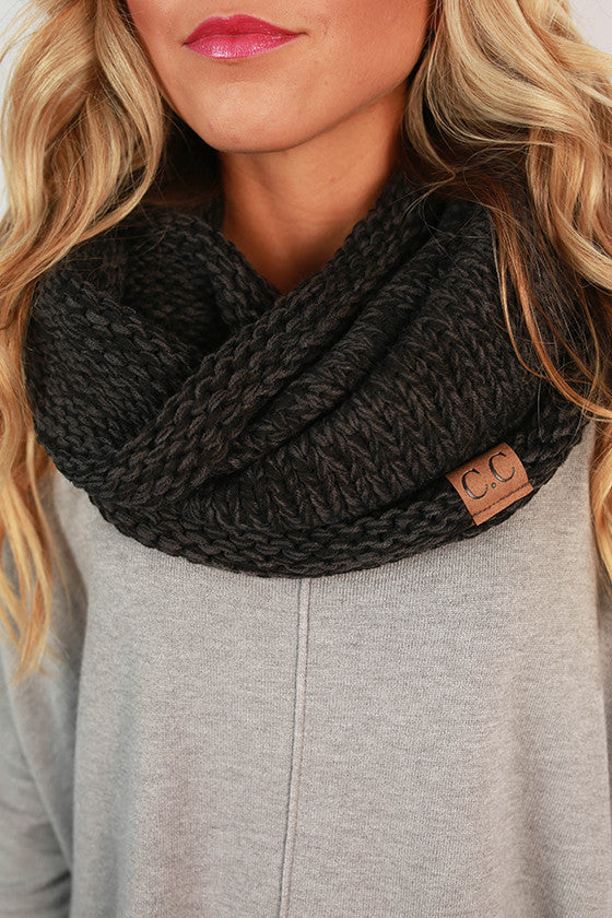 Infinity Beautiful Scarf in Black