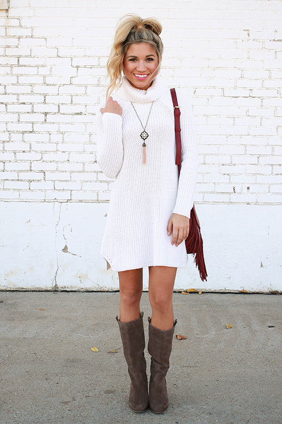 Vino in Vail Sweater Tunic in Ivory