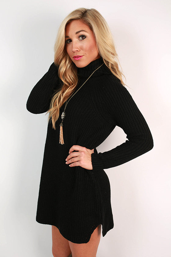 Vino in Vail Sweater Tunic in Black