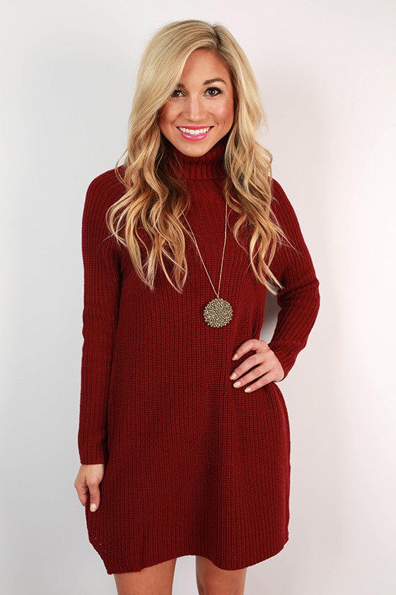 Vino in Vail Sweater Tunic in Ruby Wine