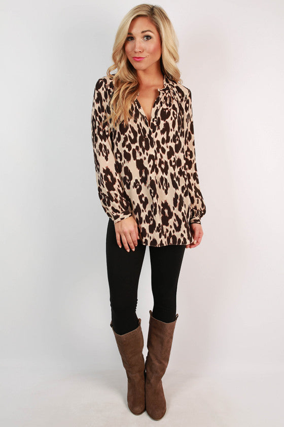 Cheetah Confidence Top