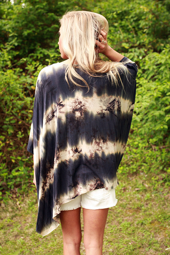 Mimosa & Matinee Tie Dye Top in Indigo Blue