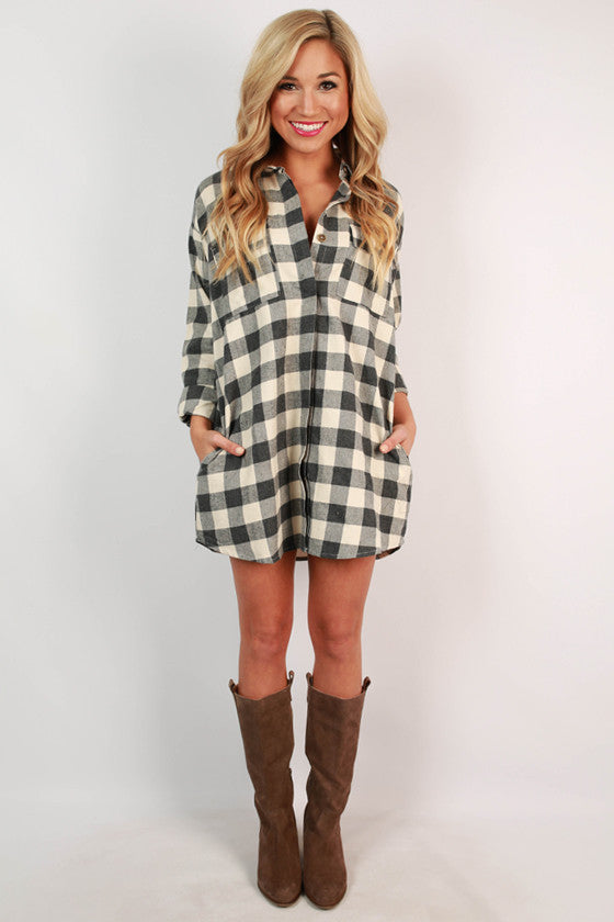 Porch Party Plaid Tunic in Ivory