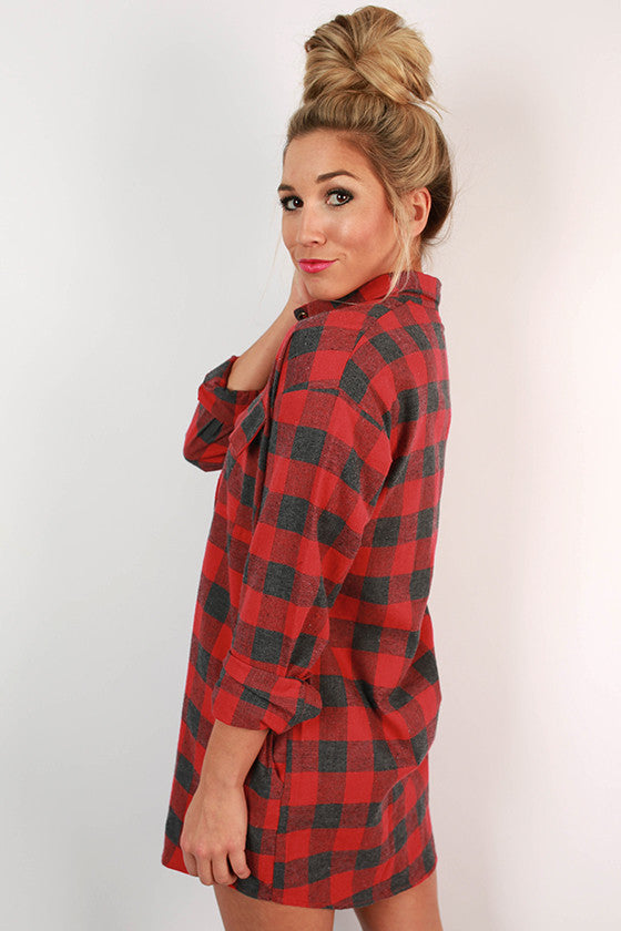 Porch Party Plaid Tunic in Tomato
