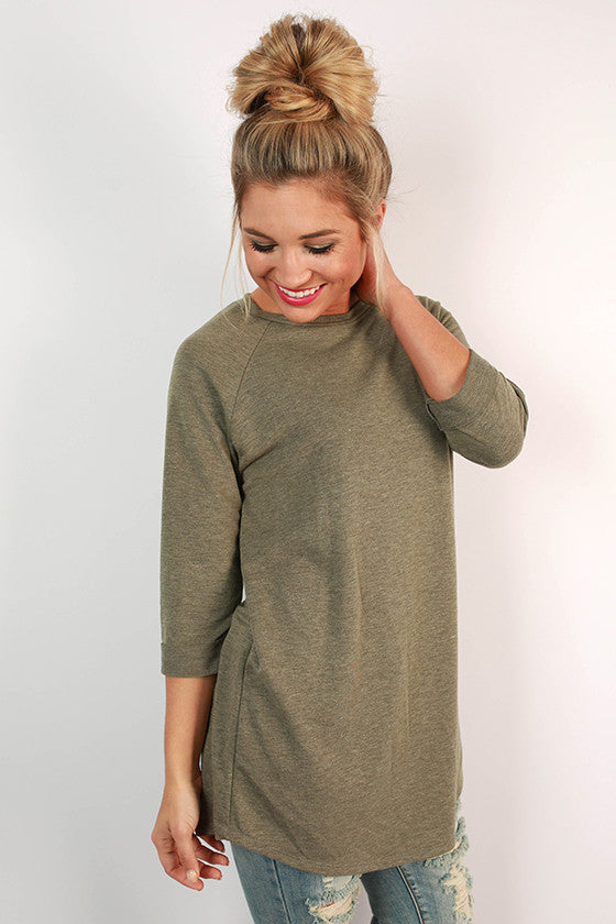 Rainy Day Tee in Army Green