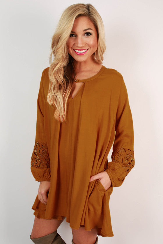 Sway With Me Tunic in Mustard