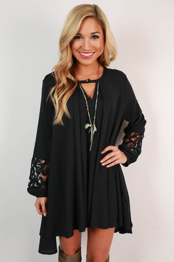 Sway With Me Tunic in Navy