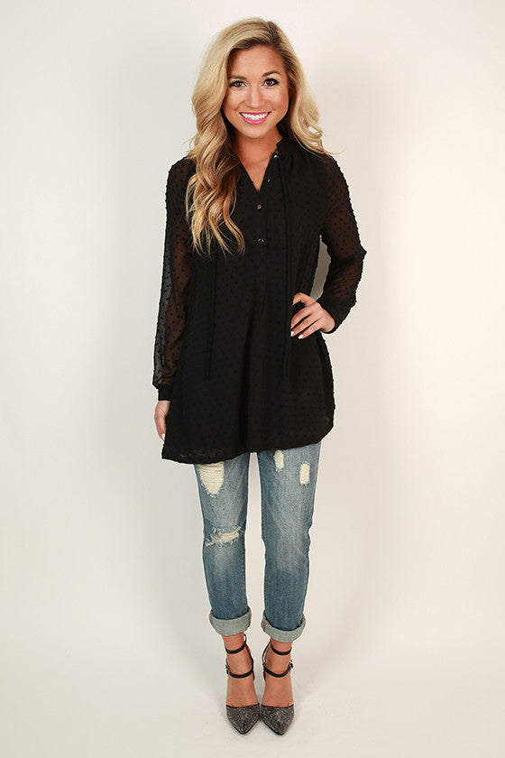 Landry Swing Tunic in Black