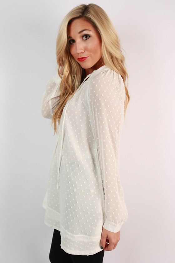 Landry Swing Tunic in White