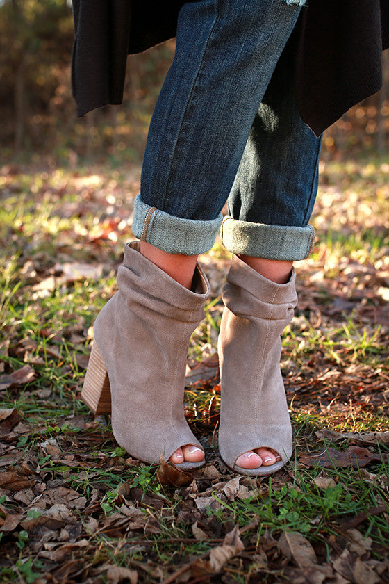 Break Up Bootie in Grey