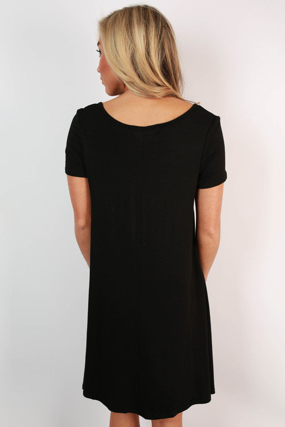 Keep It Current Shift Dress in Black