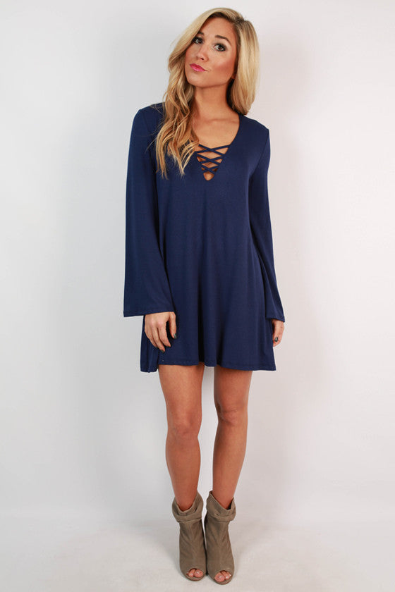 Le Chic Shift Dress in Sapphire