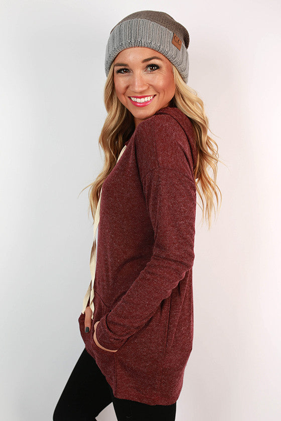 Cozy Time Hoodie in Cabernet