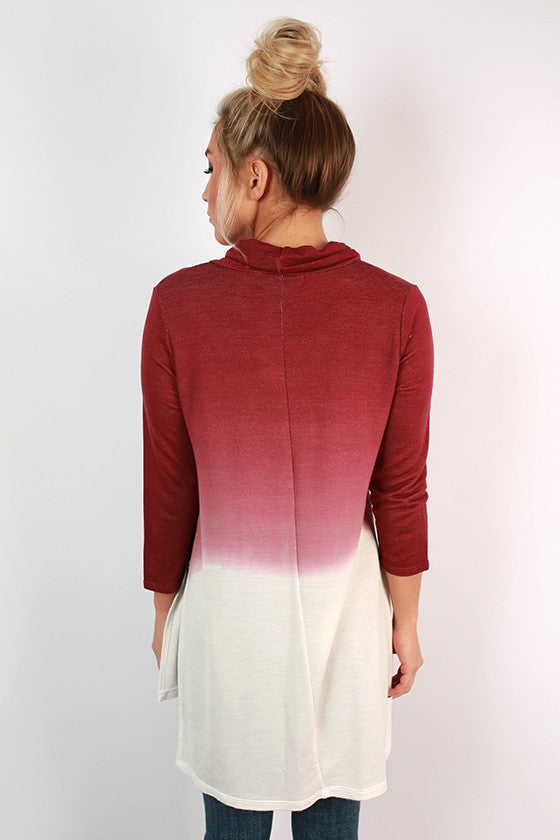 Plot Twist Ombre Tunic in Sangria