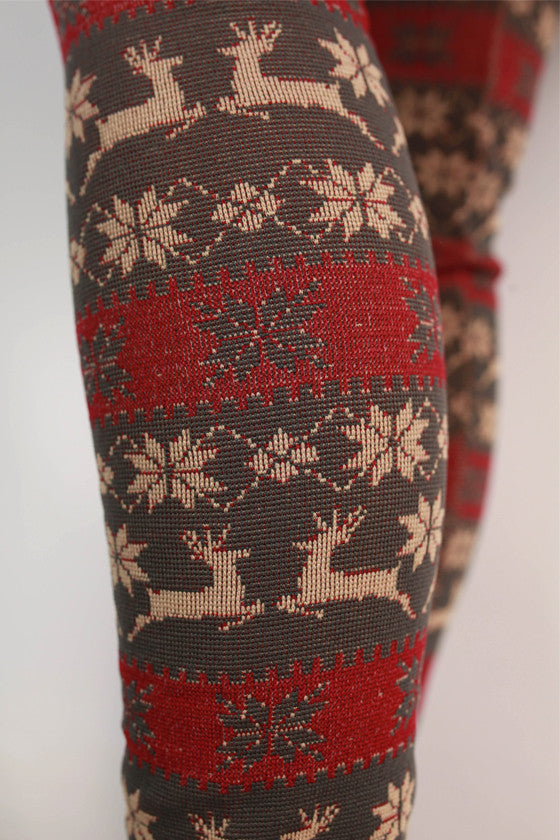 Winter Wonderland Leggings in Dark Grey