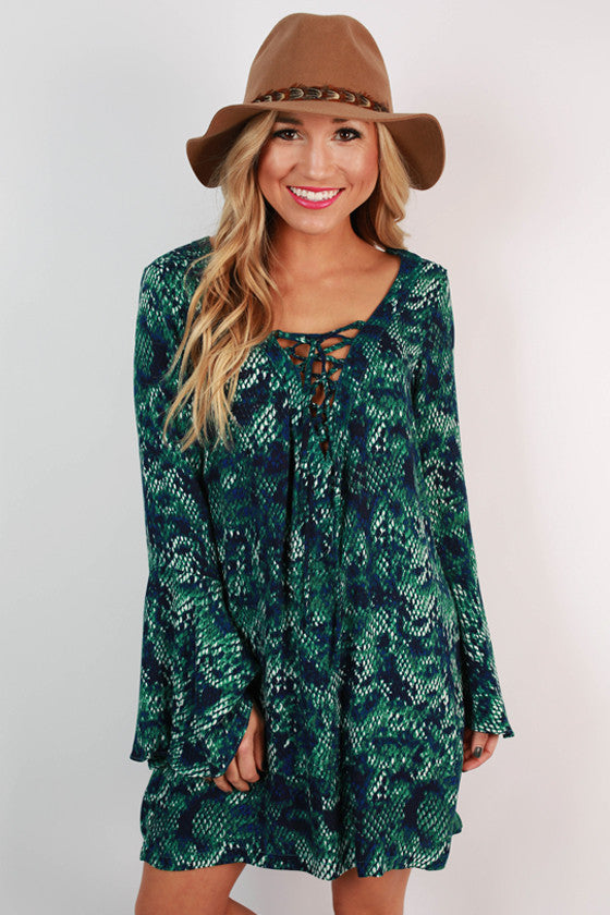 Sedona Sunsets Bell Sleeve Dress