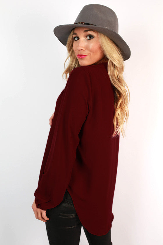 Juniper Darling Top in Sangria