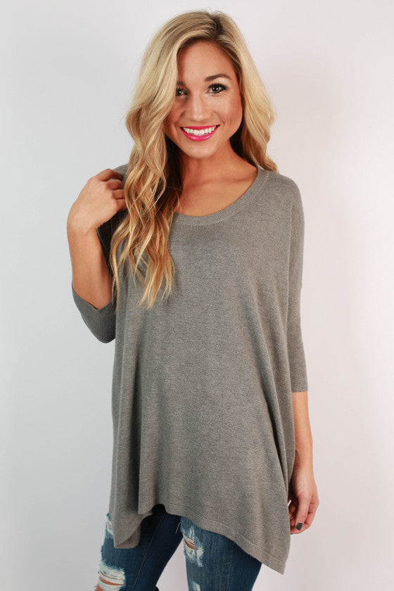 Cozy & Cabernet Sweater in Grey