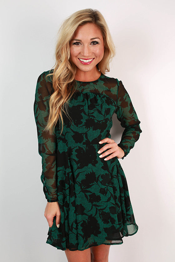 Emerald Radiance Dress