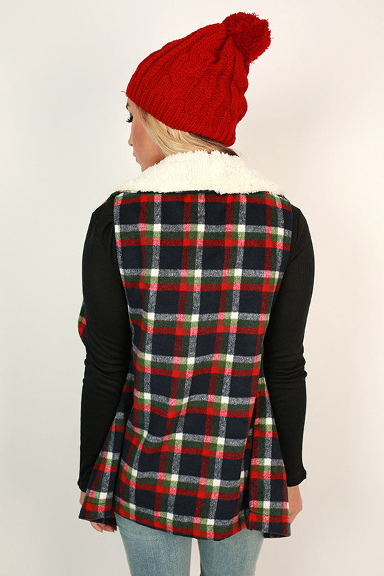 Latte Meet Up Plaid Vest