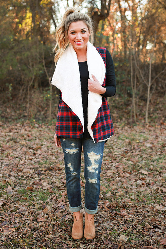 Cider Sipping Plaid Vest